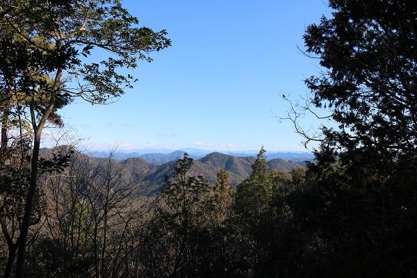高澤古道眺望地点からの眺め