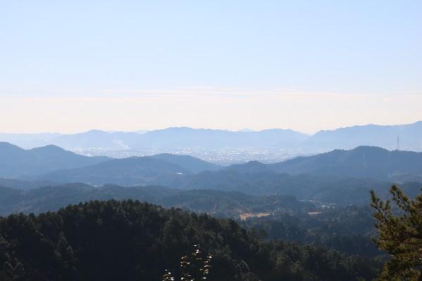 高澤古道見晴台からの展望