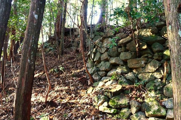 一柳城織豊期の石垣