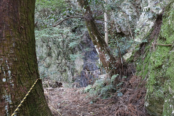 八大龍王神大滝への最後の坂道