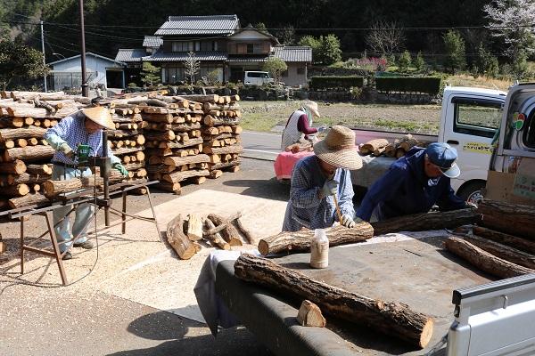 関市富之保の原木しいたけ栽培