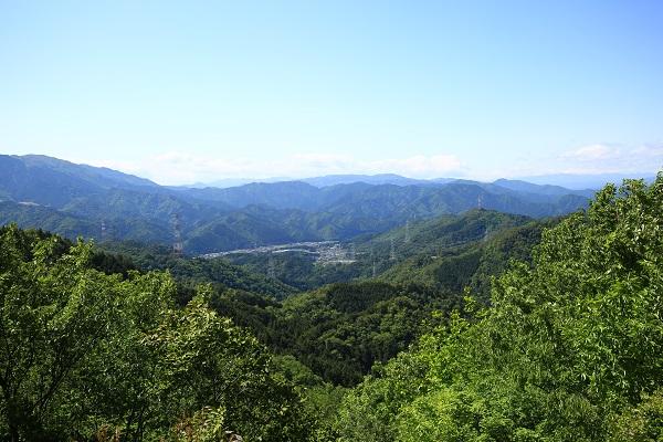 関市水晶山頂上からの眺望