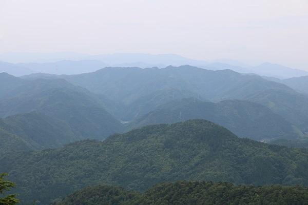 関市権現山頂上からの眺望