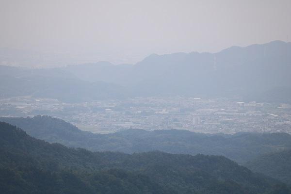関市権現山頂上南側からの眺望