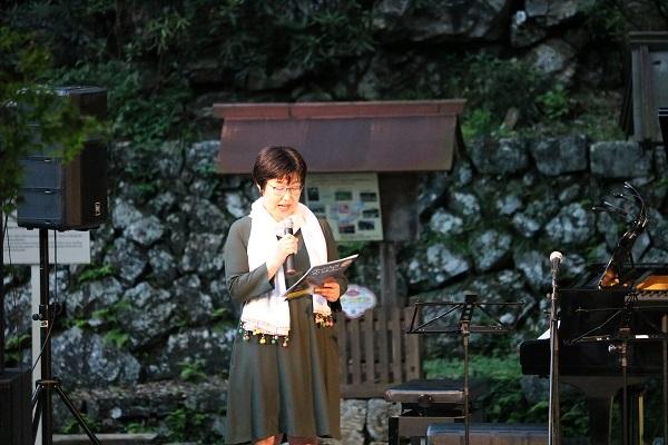 ムーンライトコンサートin高澤総合司会の森小百合さん