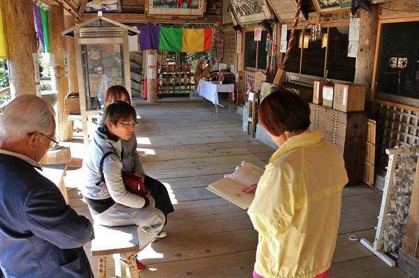 日龍峯寺所在地域の伝説を読み聞かせ