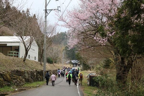 平成地区を歩く参加者