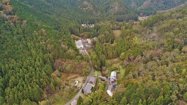岐阜県関市平成地区を上空から撮影した写真