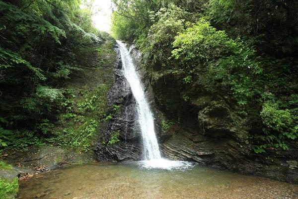 八滝ウッディランド落差12mの滝