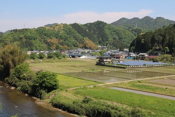 関市武儀地域に広がる長閑な風景