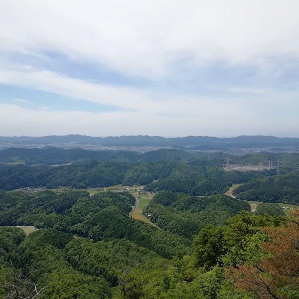 本城山頂上からの眺望