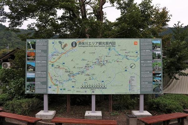 津保川エリア観光案内図(道の駅平成)