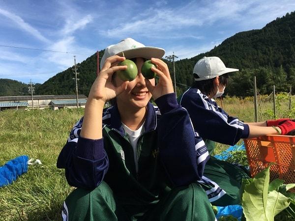ユニークな加茂農林高校の生徒