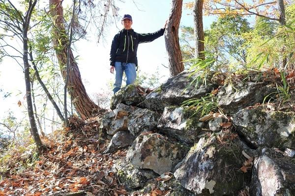 本城山の石垣跡