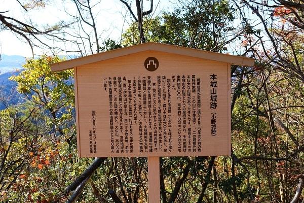 本城山城跡について解説