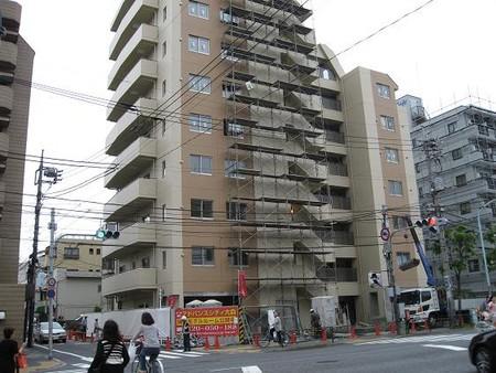 2008年5月、環七沿いに出来てきたマンション