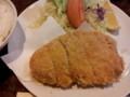 [食事]丸五にて。特ロースカツ+セットメニュー。(20120114)