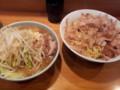 [ラーメン二郎]ラーメン二郎八王子野猿街道店2にて。大つけ麺+たまごかけつけ3。(20120