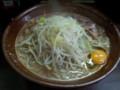 [ラーメン二郎]ラーメン二郎横浜関内店にて。大ラーメン+生玉子。(20120512)