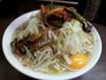 [ラーメン二郎]ラーメン二郎横浜関内店にて。大ラーメン+ニラキムチ+生卵。(20120707)