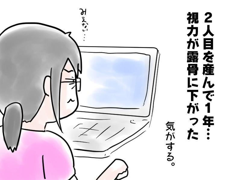パソコンが見にくいの図