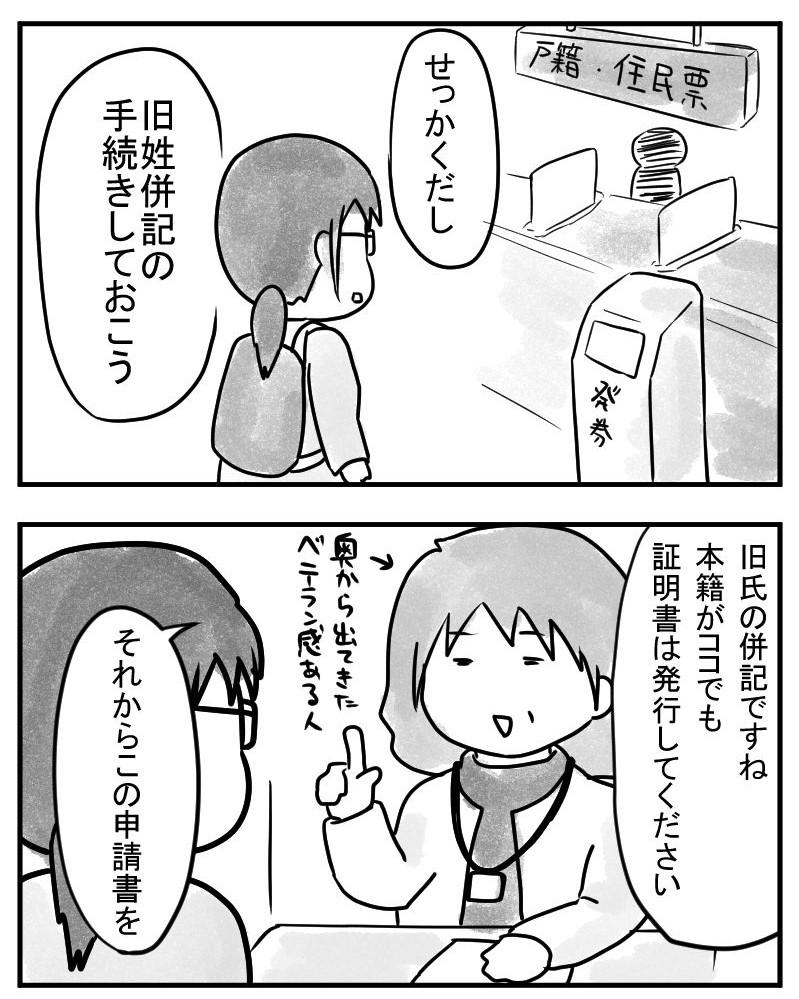 """""""旧姓併記の手続き"""