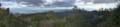 東台所神社から集落と丸山を望む