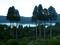 ホテルの部屋から見る芦ノ湖