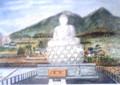 筑波山と仏像 市絵画展入賞作 購入したいが売り物でなし・・・