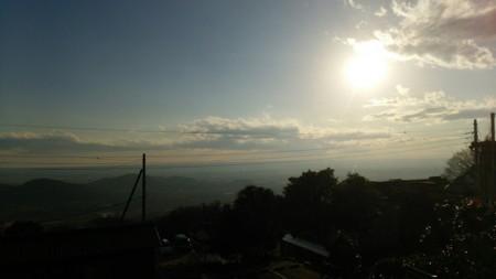 筑波山から東京方面