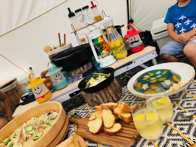 キャンプ料理 献立 品数
