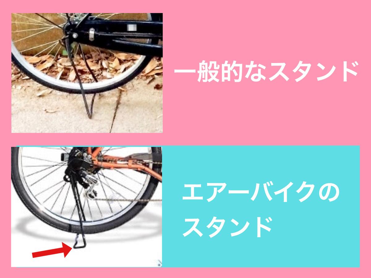 電動自転車エアーバイクのスタンド