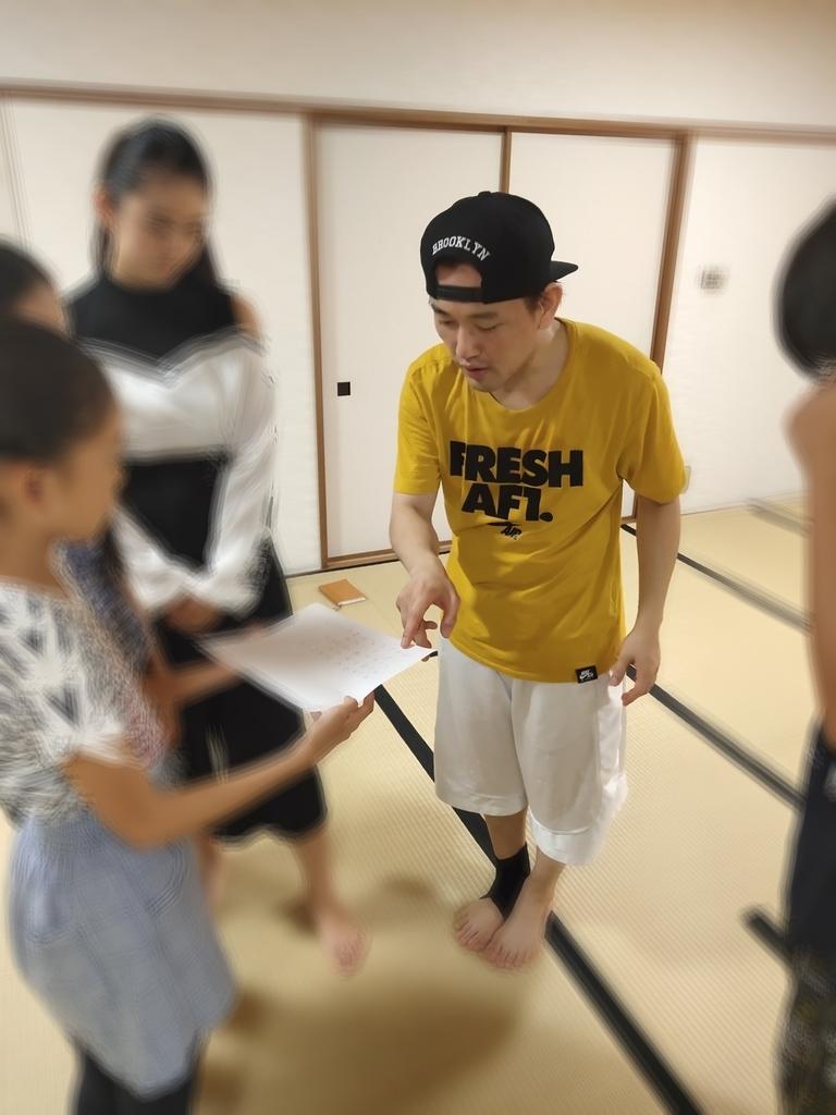 東京都港区子どもミュージカル活動中の写真