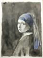 [模写][analog][illust]※フェルメール「青いターバンの少女」