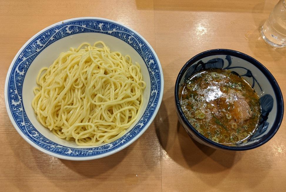青葉 つけ麺 800円