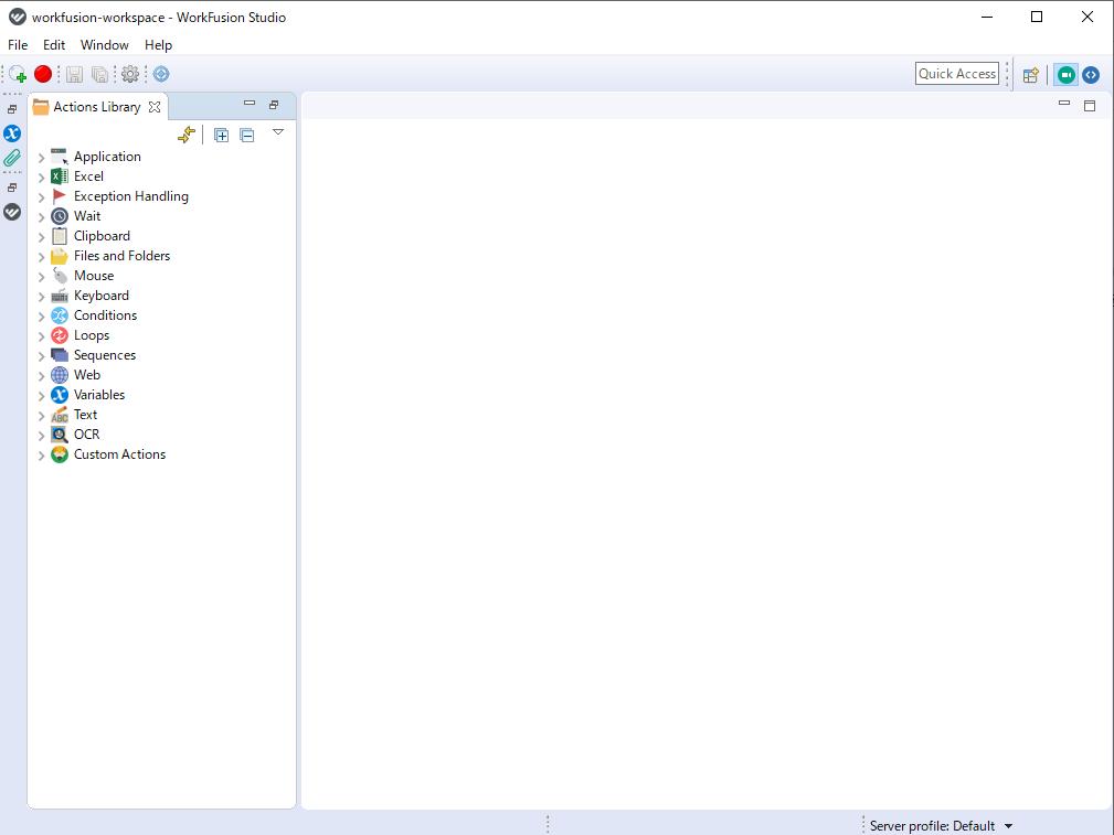 RPA Expressの基本画面の図