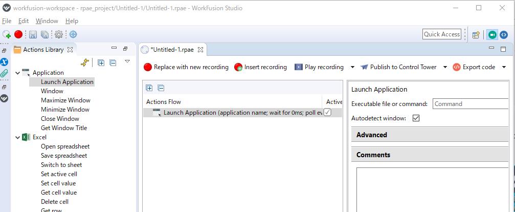 Launch Applicationをダブルクリックしたところ。全てのソフトはここから開始する。