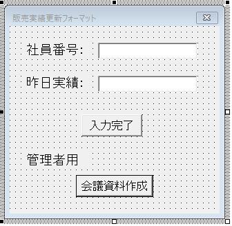 社員が実績を更新するフォーマットのイメージ図