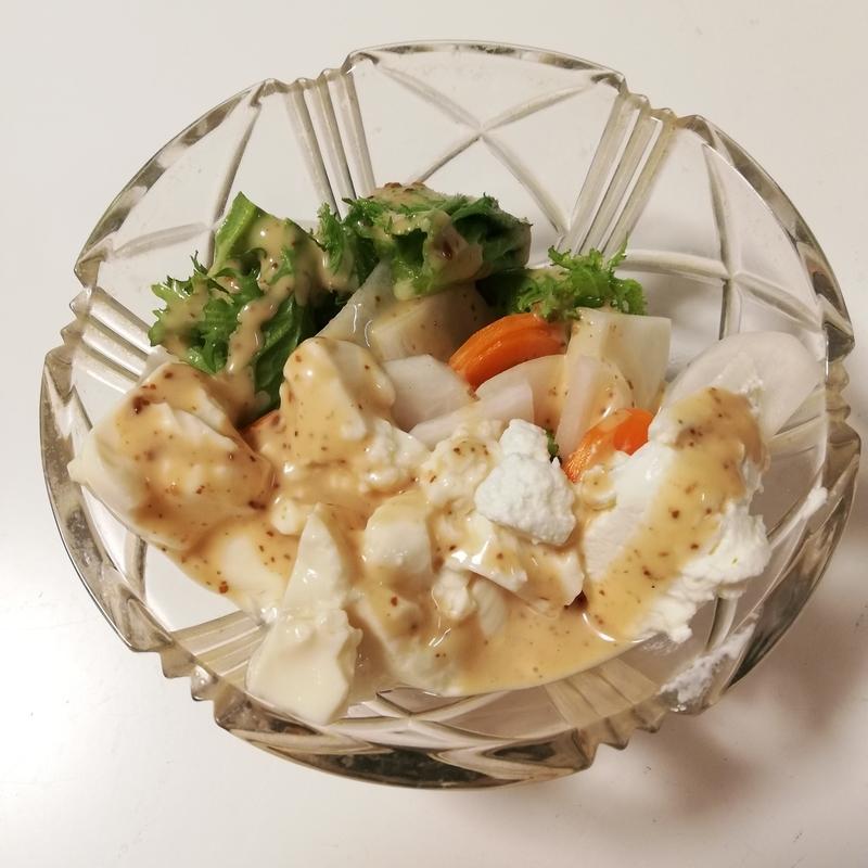 らでぃっしゅぼーやのおためしセットで作ったサラダ
