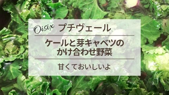オイシックスの『プチヴェール』はケールと芽キャベツのかけ合わせの野菜。甘くておいしいよ