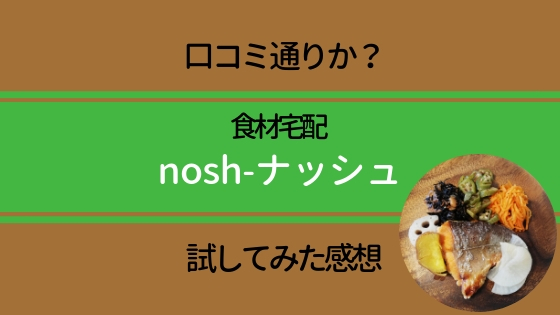 食材宅配nosh(ナッシュ)は口コミ通りか?実際試してみた感想