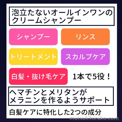 KAMIKA(カミカ)シャンプーの特徴
