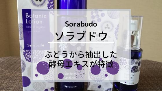 【Sorabudo ソラブドウ】ぶどうから抽出した酵母エキスが特徴!30代のわたしが体験した口コミ感想