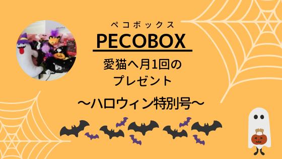 『PECOBOX-ペコボックス-』愛猫へ月1回のプレゼント~ハロウィン特別号のレビュー~