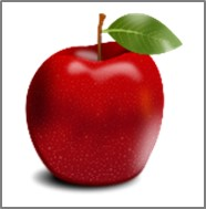 伝えたいメッセージとして符号化した部分 赤いリンゴ