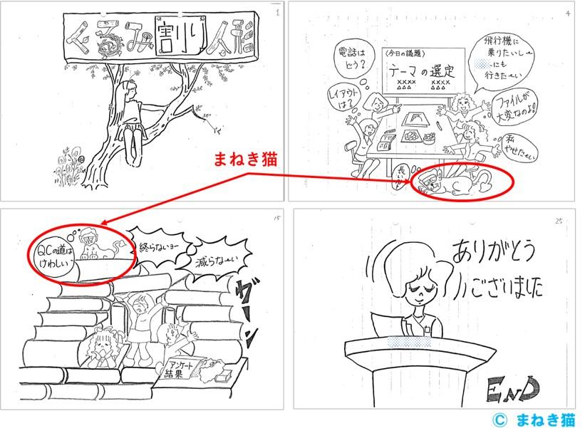 漫画のスキルをQCサークルで活用した例