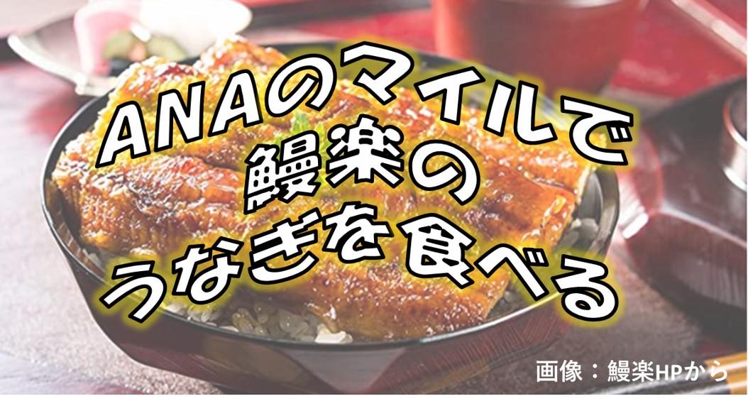 ANAのマイルで鰻楽のうなぎを食べる