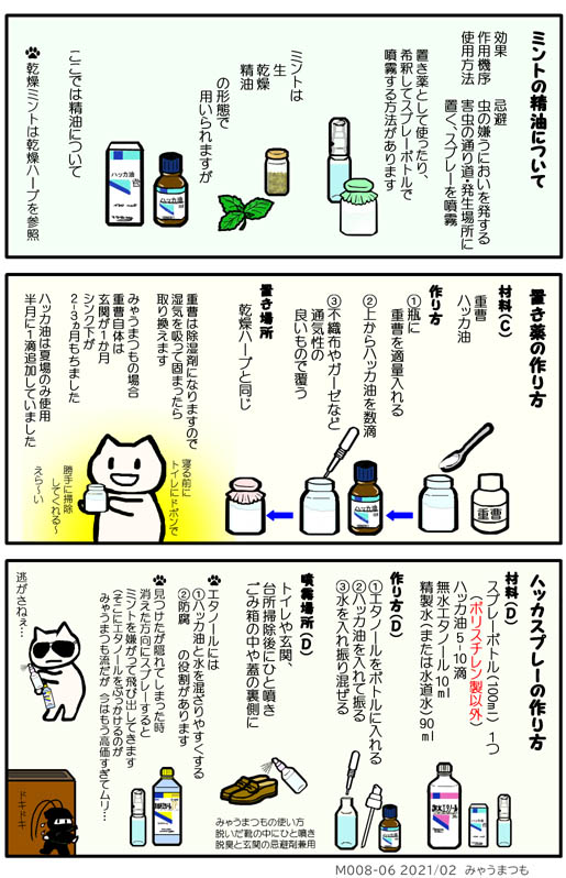 化学物質過敏症M008-06ハッカ油の使い方