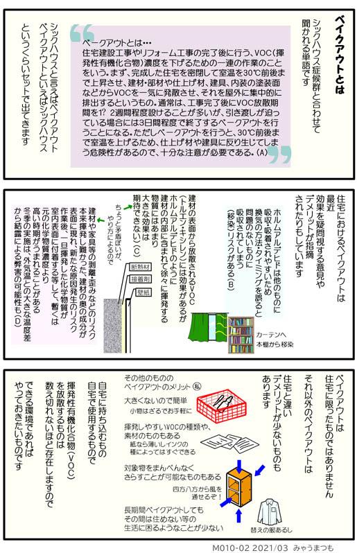 化学物質過敏症ベイクアウトM010-02住宅とそれ以外のベイクアウトについて