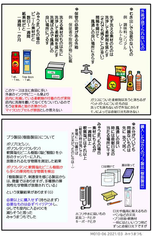 化学物質過敏症ベイクアウトM010-06ベイクアウト方法 プラ外装とプラ(樹脂)製品